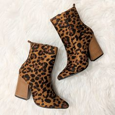 🙀 OBSESSED ::: Leopard print Booties:::: Now in store perfect for added sass to a winter wardrobe •Booties ($42) . . . . ❄️For immediate assistance or to ORDER call☎️701-356-5080 (We Ship📦& Hold) #apricotlanefargo #apricotlane #ootd #fashion #instastyle  #blogger #styled  #outfitinspo #boutique #musthaves #leopardprint  #booties #shoelover #fashionista Winter Wardrobe, Ootd Fashion, Booty, Ship, Boutique, Store, Swag, Tent, Larger