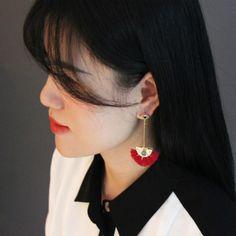 Cute Evil Eye and Midnight Blue Druzy Stone Tassel Earrings Sea Blue Color, Midnight Blue Color, Tassel Earrings Outfit, Handcrafted Jewelry, Earrings Handmade, Best Jewellery Design, Evil Eye Earrings, Fashion Jewellery Online, Popular
