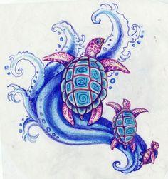 Sea Turtles Tattoo Designs
