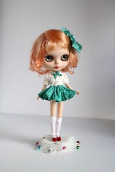 Mab Graves - Her Waifs and Strays — Flavia - custom ooak Blythe art doll by Mab Graves