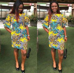 Simple Dress Pattern, African Print Fashion, Ankara Styles, African Dress, Simple Dresses, Chic, Casual, Modern, How To Make