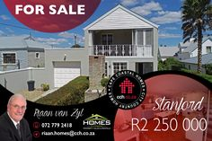 EXCLUSIVE MANDATE This double storey home (in the historic country town of Stanford only 22kms from Hermanus) has amazing mountain views and downstairs it consists of an open plan living area (lounge/dining room/kitchen), two carpeted bedrooms (sharing a bathroom) as well as a guest toilet. Upstairs there are a further lounge and a carpeted bedroom with en suite bathroom. Also, upstairs, on the northern side, there is a spacious patio...#CCH #overberg #homesathermanus #stanford #homesforsale Room Kitchen, Dining Room, Guest Toilet, Storey Homes, Shared Bedrooms, 3 Bedroom House, Open Plan Living, Mountain View, Living Area