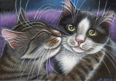 Cuddling Kitties Painting