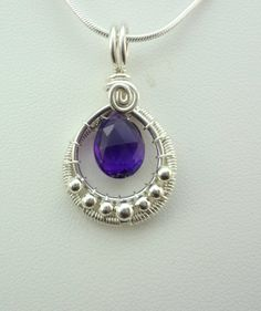 Amethyst and Sterling Silver Wire Wrapped by TwistedBlissDesigns, $35.00