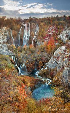 National park Plitvice lakes, Croatia  Blue eye by photologia