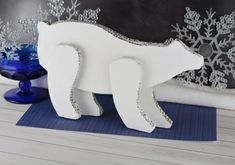Polar Bear Craft Ideas. With some cardboard, white paint, scissors and a few other supplies kids can make their own polar bears they can play with!