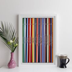 Personalised Record Collection Print Oversized Lps By Elevencorners | notonthehighstreet.com