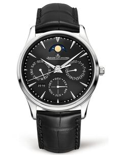 From the very first glance, the black of the dial and strap entices and intrigues. The Master Ultra Thin Perpetual steel model offers watch lovers a perpetual calendar in an ultra-thin exterior shrouded in deep colors.