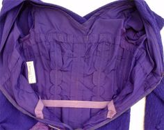 purple crepe cocktail dress by Christian Dior Couture, from 1988