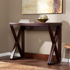 Upton Home Garner Espresso Counter Height Universal Table | Overstock™ Shopping - Great Deals on Upton Home Coffee, Sofa & End Tables