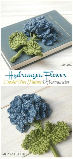 Discover recipes, home ideas, style inspiration and other ideas to try. Crochet Flower Tutorial, Crochet Diy, Crochet Gifts, Crochet Motif, Crochet Designs, Diy Crochet Flowers, Knitting Patterns, Crochet Patterns, Free Knitted Flower Patterns