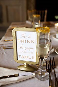 Photo: Kristin Spencer Photography; wedding reception table number idea