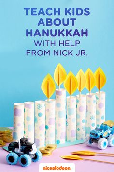 Teach your kids about the Festival of Lights with this adorable printable menorah. Celebrate this centuries old tradition with your children, with the help of Nick Jr. Once you've crafted the menorah, practice the lighting ceremony together with your child using our printable flames. Chag Sameach. Now go eat some latkas!