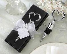 Chrome Heart Bottle Stopper Wine Wedding Favor