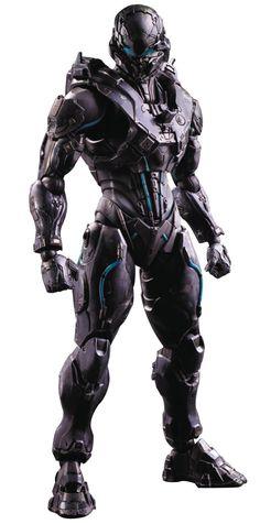 Amazon.com: Square Enix Halo 5: Spartan Locke Play Arts Kai Action Figure: Toys & Games