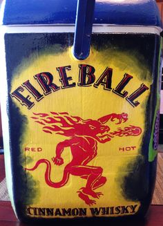 fireball whisky fraternity frat cooler idea