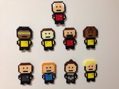 Star Trek: The Next Generation  perler magnets by IMeltBeads