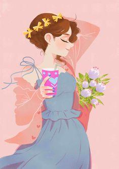 Sweet girl on behance cute illustration, fashion sketches, art sketches, art drawings, Cute Illustration, Character Illustration, Illustration Fashion, Character Art, Character Design, Illustrations And Posters, Anime Art Girl, Cartoon Art, Cute Drawings