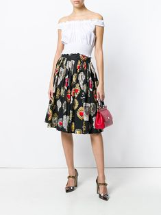 Dolce & Gabbana プリント フレアスカート