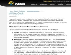 Writing Goals   Writing IEP Goals for AAC Users   Scoop.it