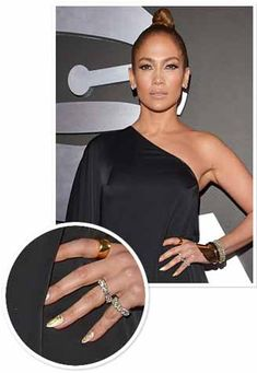 Jennifer Lopez Nail Art At Grammy's 2013