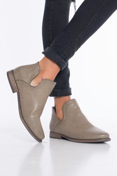 We are loving booties for all occasion and all weather! This cut out bootie is no exception. The taupe color is versatile and can pair with nearly any outfit.