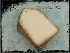 Rustic Wedding Favor Tags Vintage Inspired Tags by KatsPaperTrail