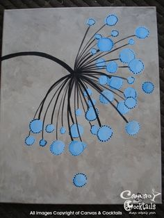 simple flower painting- would be a nice art quilt also. ♥♥