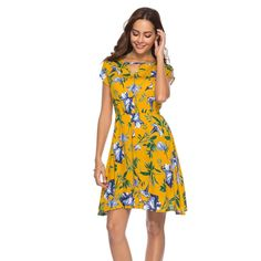 f1d6f8e9ea Maternity Fashion - TOPUNDER Womens V Neck Holiday Dress Ladies Summer  Floral Print Dress Beach Party