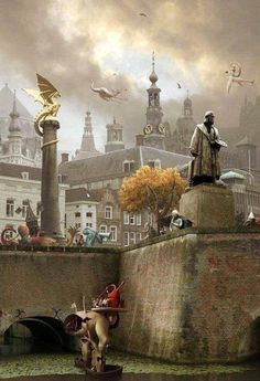 Jeroen Bosch - photo impression from the town of Jheronimus Bosch 's-Hertogenbosch in the Netherlands Hieronymus Bosch, Dutch Painters, Poster Pictures, Surreal Art, New Art, Art History, Netherlands, Holland, Modern Art