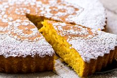 Gluten Free Tangerine Cake ~ this delicious flourless cake made with the whole fruit and almond flour in the Italian tradition ~ it takes just like biting into a fresh tangerine!