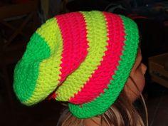 Häkelmütze nach myBoshi in Neonfarben