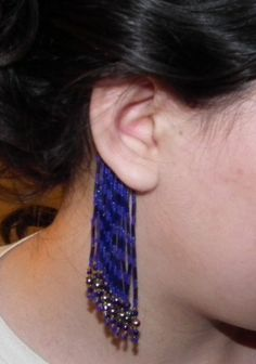 Instructions for non-pierced ear fringe, dramatic and different.  #seed #bead #tutorial
