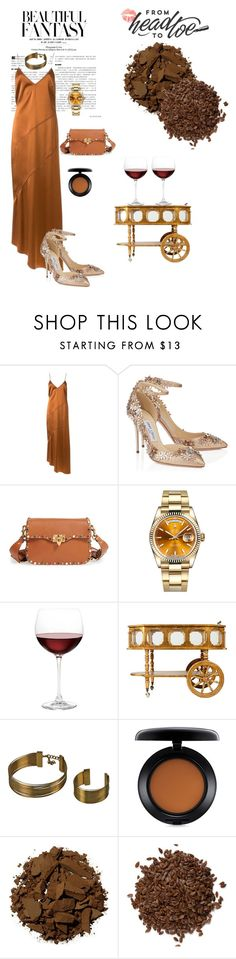 """""""#Brown"""" by einatv ❤ liked on Polyvore featuring Manning Cartell, Valentino, Rolex, Nordstrom and MAC Cosmetics"""