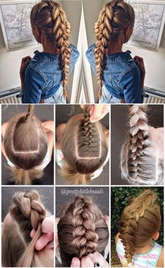 I had been trying to figure how people make these Dutch braids look so full; but I had not thought about doubling the braid back on itself.