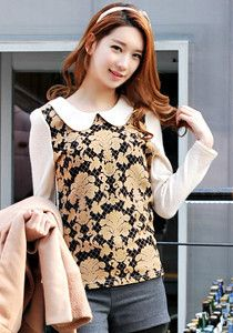 SALE: Knitted Flower Blouse @ $59 SGD only! (Available in: Beige, Black)