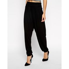 73382ffa92 ASOS Harem Pants In Jersey ($20) ❤ liked on Polyvore featuring pants, harem