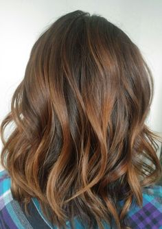 Chocolate and butterscotch balayage