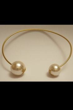 29.99 $ Choker Necklace Gold Pearl Necklace, Wire Necklace, Bridal Necklace, Pearl Jewelry, Necklace Lengths, Gold Jewelry, Metal Choker, Minimalist Necklace, Chokers