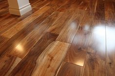 The Chic Technique: Terre Verte Acacia Walnut Engineered Hardwood Acacia Flooring, Engineered Hardwood Flooring, Wooden Flooring, Hardwood Floors, Flooring Ideas, Laminate Flooring, White Flooring, Tile Wood, Terrazzo Flooring