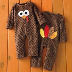 Thanksgiving Turkey Outfit - Infant *This is too cute.