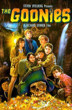 The Goonies (1985, Steven Spielberg & Richard Donner). Saudade de um tempo em que ainda existia o verdadeiro gênero 'aventura' .
