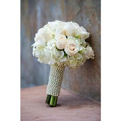 White Wedding Flowers ❤ liked on Polyvore