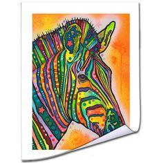 Dean Russo 'Zebra' Rolled Art