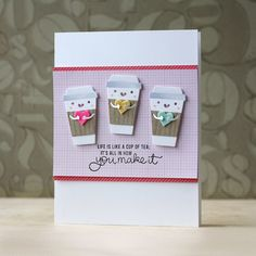 Simon Says Stamp February Card Kit! Coffee, Tea and Cocoa!