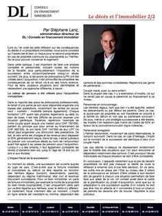 #Conseil #Immobilier #Financement #Succession: Que se passe t-il au décès?2/2 Dans votre #IMMOmagazine No.17