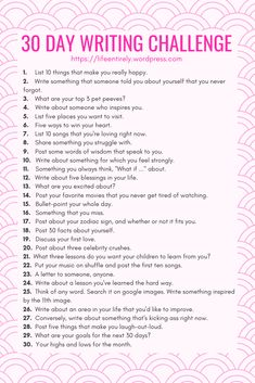 30 Day Writing Day Writing Challenge - Life, EntirelyHow To Journal To Inspire Self-Discovery - The Sunny Side Lifestyle Journaling prompts to promote self discovery. Memoir Writing, Journal Writing Prompts, Writing A Book, Writing Tips, 4th Grade Writing Prompts, Journal Prompts For Teens, Poetry Prompts, Journal Topics, Creative Writing Prompts
