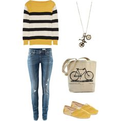 Bicycle, created by aijelethboda on Polyvore.....this is quite appropriate for me. :)