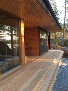 Villa K&Y @ Lake Saimaa archipelago, Savonlinna, Finland. Keywords: Sustainable, functional, contemporary, natural, ecological, timeless and four seasons. Whale Tail, Lake Cottage, House In The Woods, Location, Beach House, Villa, House Design, Cabin, Seasons