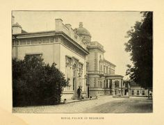 1903 Print Royal Palace Belgrade Serbia Compound Kraljevski Dvor Dedinje XGW6